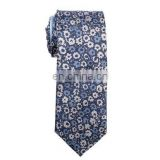 blue animated floral jacquard silk tie