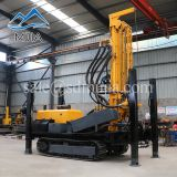 200 Meters Crawler Pneumatic DTH Hammer Rock Borehole Drilling Rig For Water Well