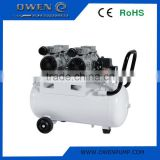 Oil-Free Double-Cylinder Motor Power Oil Free Silent Piston Air Compressor