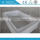 rectangular china 2 person bathtub jet bathtub nozzl massag jet