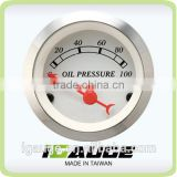 Classic Gauges 52mm white face convex glass lens Oil Pressure gauge