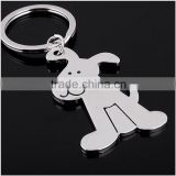 Manufacturers supply key ring genuine creative personality smooth dog keychain