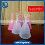 2015 Food grade silicone menstrual cup amazon, menstrual cup accessories and endometriosis