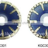 Curved granite saw blade/convex