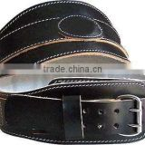 Super heavy cow hide suede weight lifting power Belt