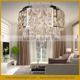 electroplate lamp base home lighting led crystal pendant light