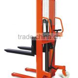 Hydraulic manual hand stacker with push pull attachement