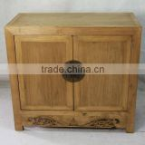 antique Chinese reclaimed furniture two door carving cabinet ,used hotel furniture for sale