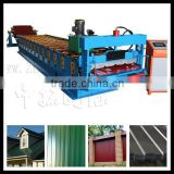 72mm solid steel shaft metal roof roll forming machine ,trapezoidal rib profile roll former