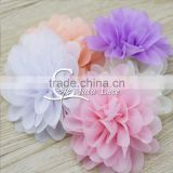Width 3.75 inch embroidered floral scalloped flower, Evening dress waistband flower accessories
