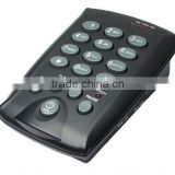 Professional black call center headset redial/flash/mute calller id phone CHT-800