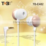 consumer electronics products mickey mouse earphone mp3, braided earphone cable, braided fabric cord earphone