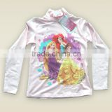 Cotton Roll-neck long sleeve girl T-short sublimation print OEM/ODM top brand
