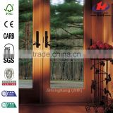 71.25 in. x 79.5 in. 400 Series French Wood Gliding Right-Hand 6068 Oak Interior Patio Door Low-E4 Smartsun with Screen