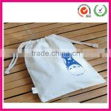 Snow white double-rope Cotton drwwstring Bags backpack (factory)