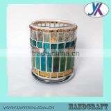 Professional China Factory Manufacture luxury mosaic glass concrete candle jar