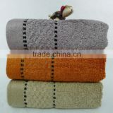 jacquard bamboo towel with satin