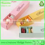 Printing paper drawer luxury macaron gift box                                                                                                         Supplier's Choice