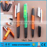 Multi-function combo stycky note stylus ball pen with highlighter pen