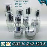 Transparent clear glass cosmetic bottles and jars                                                                         Quality Choice