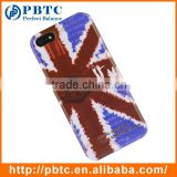 Set Screen Protector And Case For Iphone 5 , Hard Plastic Retro Style Union Jack Cell Phone Case Wholesale