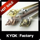 KYOK color tension rod curtain rod ,curtain rod accessories ,high quality single double curtain rod factory in Foshan