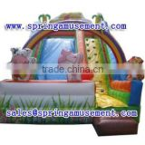 2015 new design outdoor animal carton inflatable slide, inflatables, inflatable water slide SP-SL108