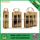 custom printed bamboo handle jute tote bag