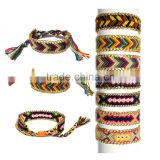 Handmade Multi-Colour DIY Geneva knotted cotton watch band Braided Chram watch strap