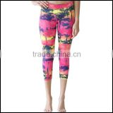 Print Knitted Leggings and Multi Colored Leggings or tight woman jogging pants yoga pants