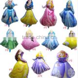 Bule Princess foil balloon cinderella mylar balloon high quality princess balloon helium ballon globes