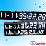 Day date white led digital calendar clock