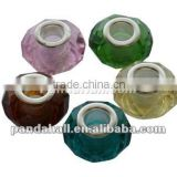 Glass European Big Hole Beads, Faceted, Mixed Color(GDA001)