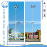 Hot-dip galvanized then powder coating Q235 30m high mast lighting pole LED /Metal halide light