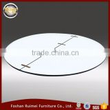 Wholesale white PVC surface dining room banquet wooden material round table top