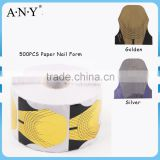 ANY Nail Beauty Design Crystal Extension Nails Buliding Double Thick 500PCS per Roll Thick Paper Nail Art Form for Oval Nails