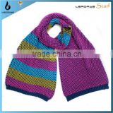fashion lady acrylic stripe 2013 easy knit scarf pattern