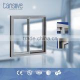 custom double glass powder coating bronze color aluminium sliding windows