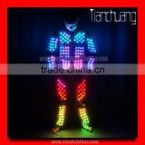 DMX 512 controlled lights led dance costumes programmable led robot costume,customize light up adult costume