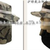 Along the jungle camouflage belt to protect the neck cap