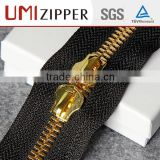 ensured quality Guangzhou accessories double head metal zipper for handbags