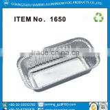 foil containers NO6a and No2 used in UK take away aluminium foil containers for restaurant with paper cardboard lid