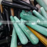 wholesale magic natural obsidian aventurine tiger eye stone crystal massager wand for healing