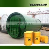 Large output to abroad ! rubber raw material recycling to oil pyrolysis machine with CE ISO