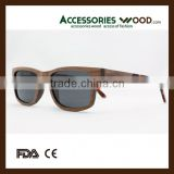 NEW DESIGN Acetate mix Walnut layered wood sunglasses women