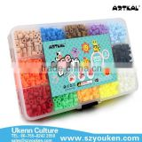 UKENN S-5MM 2025pcs fuse perler beads/box 15 colors with pegboard jewelry making kits for kids