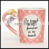 Hot selling novelty ceramic mug with spoon