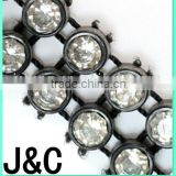 Plastic Chain Mesh Trimming with B rhinestone
