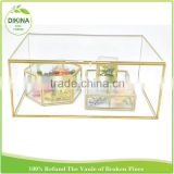 gold container baby ; women's shoes ; health food; jewelry ; wholesale glass transparent boxes for storage clothing