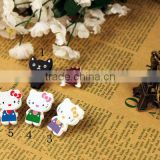 Hot selling !!!Wooden cartoon craft buttons for kids/DIY accessory with printing